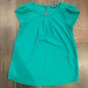 Papermoon Green Petal Sleeve Top Size XS